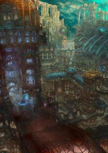 cityscapes scenic artwork anime munashichi wallpaper