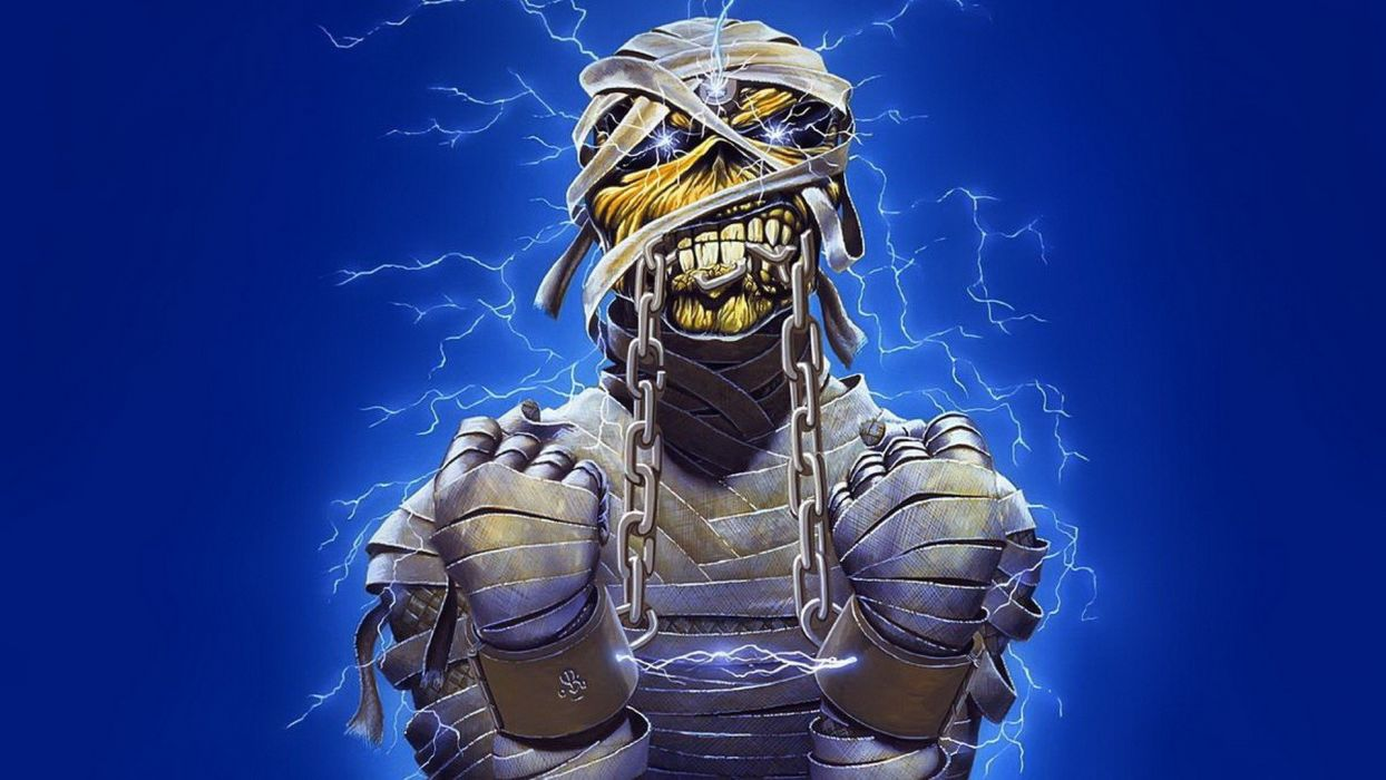 music monsters mummy Iron Maiden Eddie wallpaper