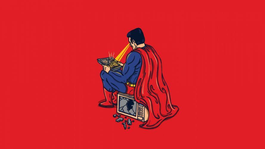 minimalistic Superman funny wallpaper