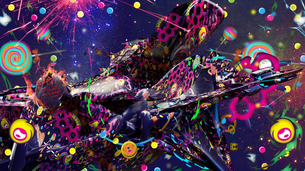 Abstract Multicolor Psychedelic Digital Art Wallpaper