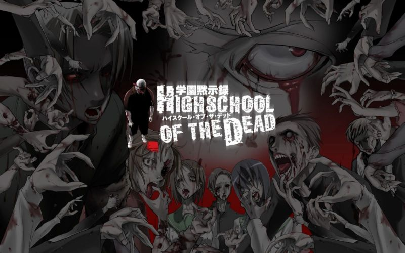 zombies Highschool of the Dead wallpaper