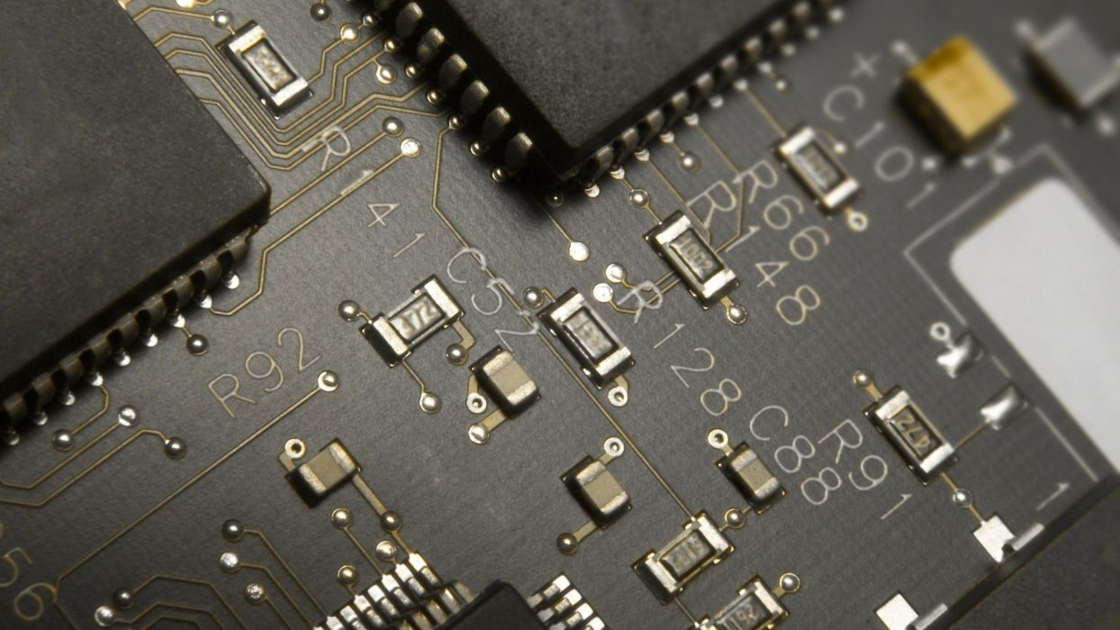 chips circuit board wallpaper