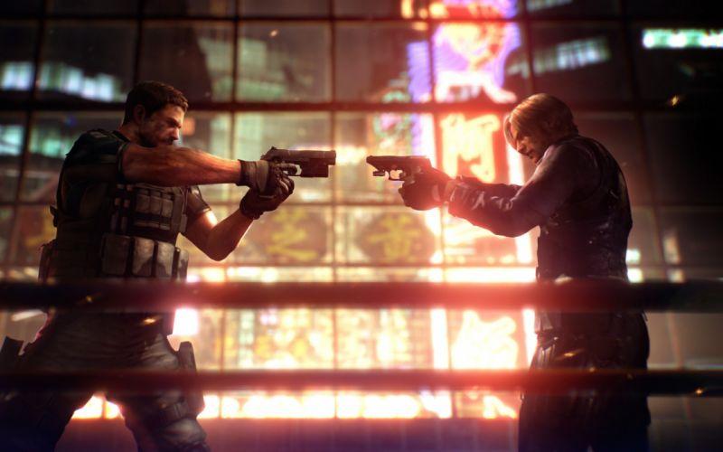 video games Chris Redfield Leon S_ Kennedy Resident Evil 6 wallpaper