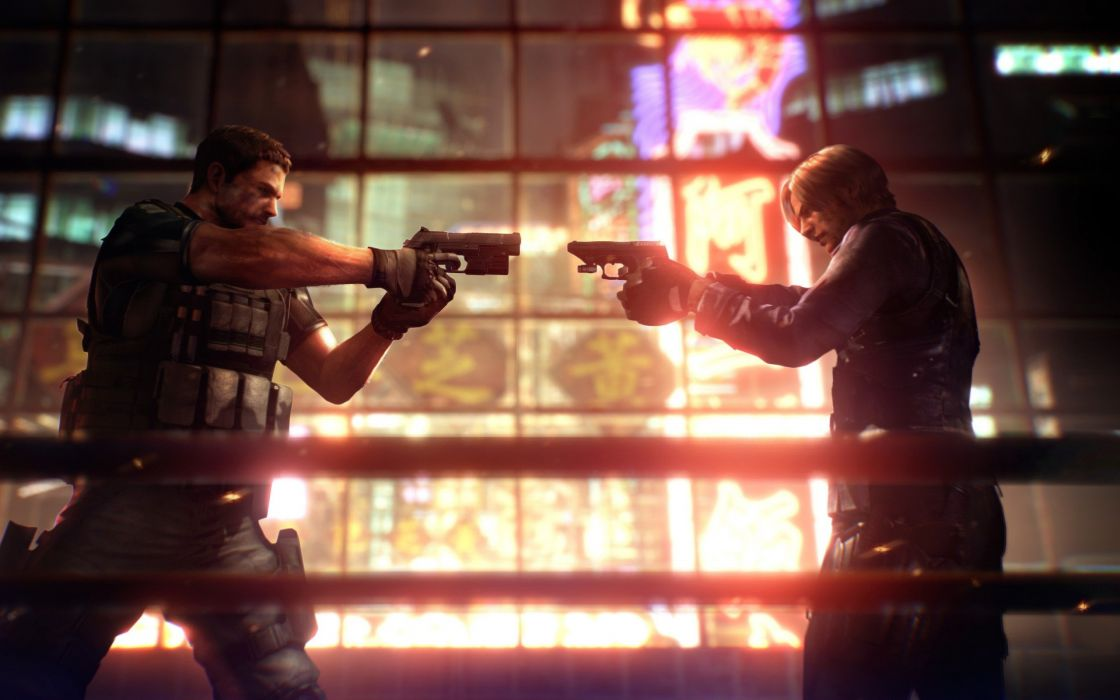 Video Games Chris Redfield Leon S Kennedy Resident Evil 6