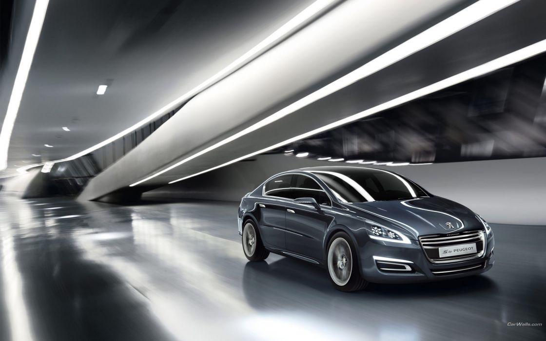 cars metallic Peugeot concept art wallpaper