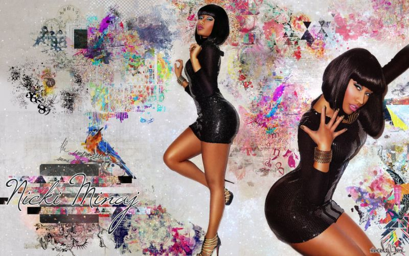 NICKI MINAJ pop r-b hip hop rap rapper singer actress glam sexy babe (20) wallpaper