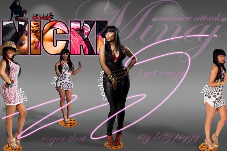 NICKI MINAJ pop r-b hip hop rap rapper singer actress glam sexy babe (33) wallpaper