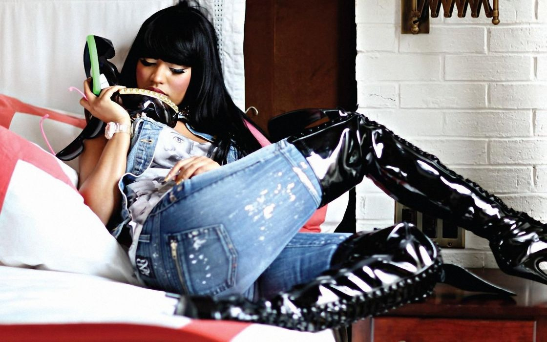NICKI MINAJ pop r-b hip hop rap rapper singer actress glam sexy babe (107) wallpaper