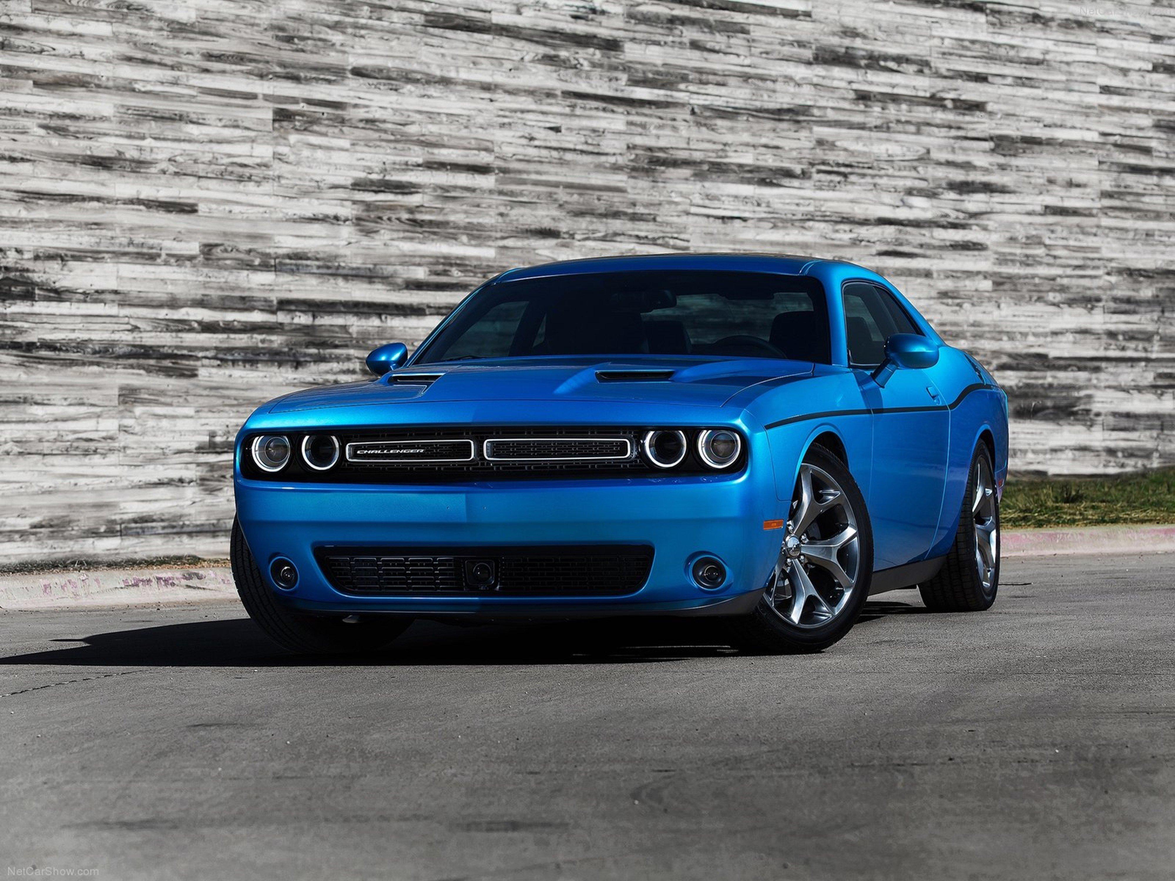 Dodge- Challenger 2015 muscle car wallpaper blue 4000x3000 wallpaper