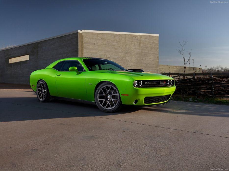 Dodge- Challenger 2015 muscle car wallpaper green 4000x3000 wallpaper