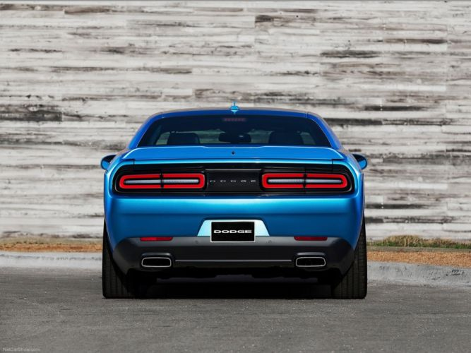 Dodge- Challenger 2015 muscle car wallpaper rear blue 4000x3000 wallpaper