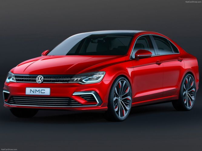 Volkswagen -New Midsize Coupe Concept 2014 future red passat wallpaper 06 4000x3000 wallpaper