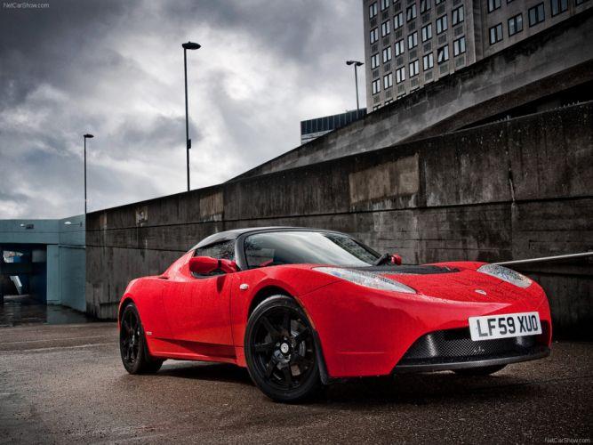 Tesla -Roadster UK -Version 2010 electric car wallpaper 01 4000x3000 wallpaper