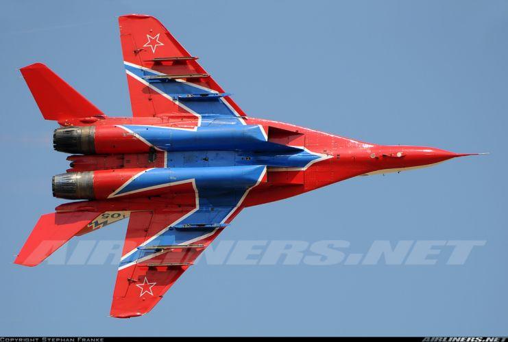 Mikoyan Gurevich MiG Russia jet fighter russian air force aircraft war sky red star 29ovt wallpaper