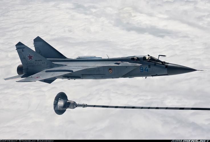 Mikoyan Gurevich MiG Russia jet fighter russian air force aircraft war sky red star 31bm wallpaper