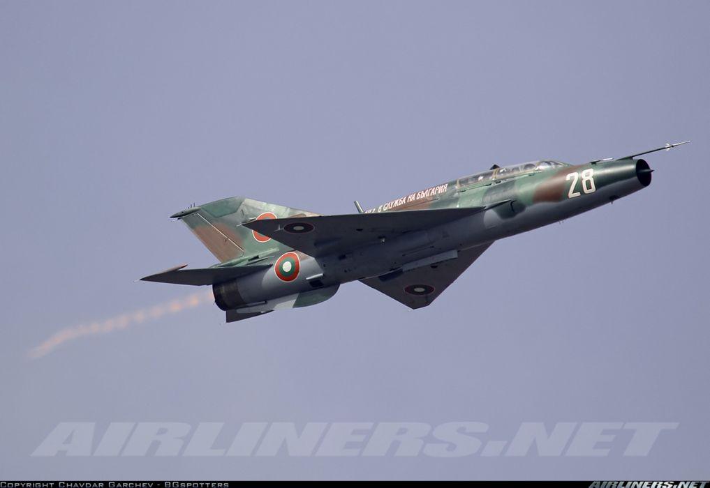 Mikoyan Gurevich MiG jet fighter air force aircraft war sky Bulgaria wallpaper