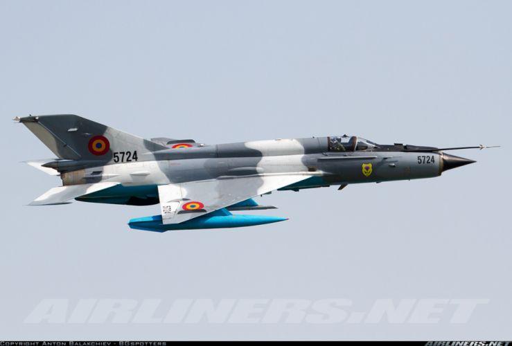 Mikoyan Gurevich MiG jet fighter air force aircraft war sky Romania wallpaper