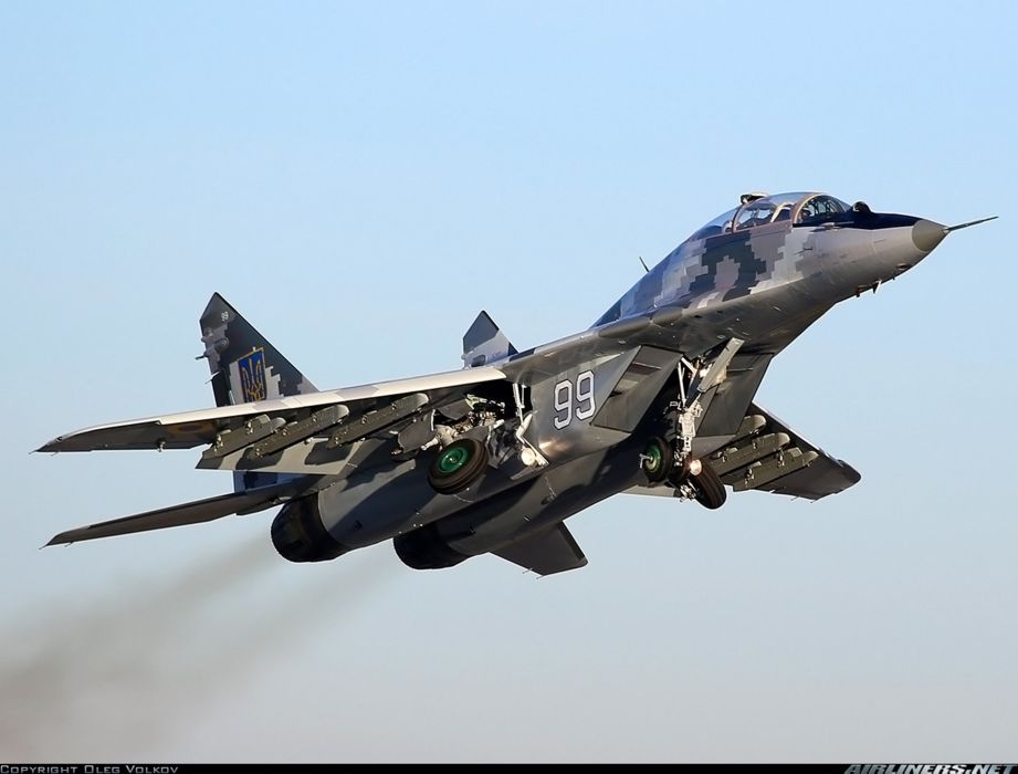 Mikoyan Gurevich MiG jet fighter air force aircraft war sky Ukranie wallpaper