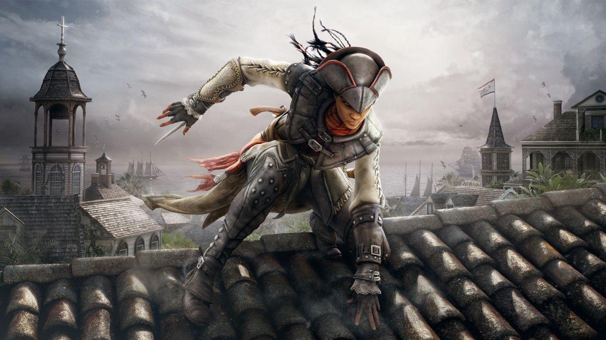 assassins creed 4 black flag game aveline wallpaper