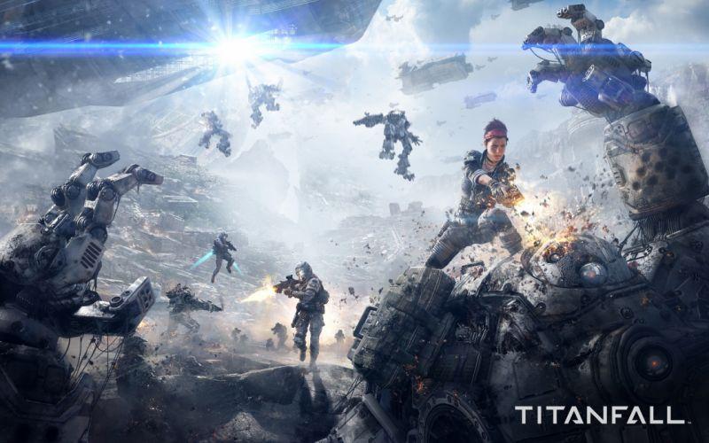 titanfall game sci-fi future war battle 4000x2500 wallpaper