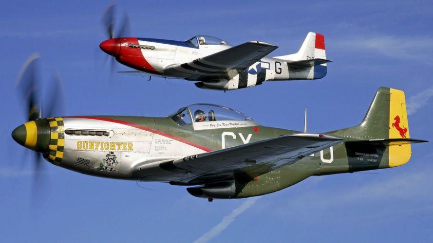 aircraft military World War II Warbird fighters wallpaper