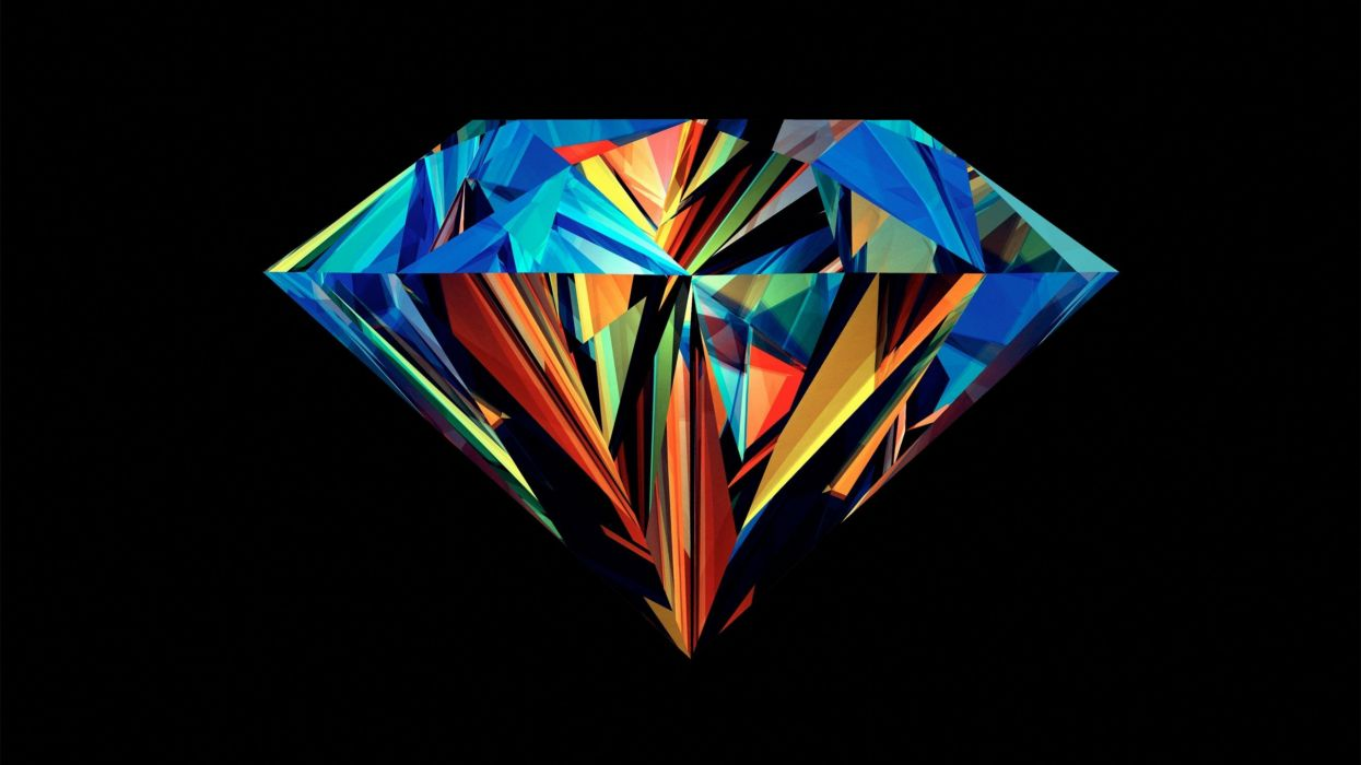 brilliant Justin Maller black background colors jewels diamond wallpaper