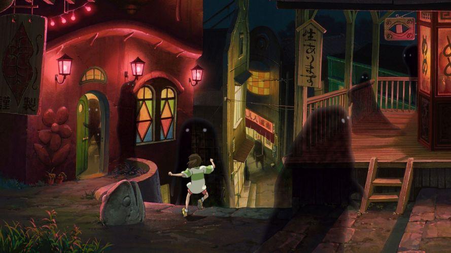 Spirited Away ghosts Studio Ghibli wallpaper
