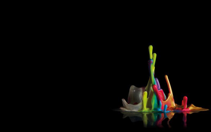 abstract multicolor liquid rainbows digital art splashes wallpaper