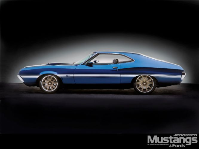 cars side view Ford Gran Torino wallpaper