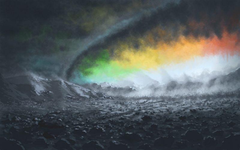 rainbows cloud wallpaper