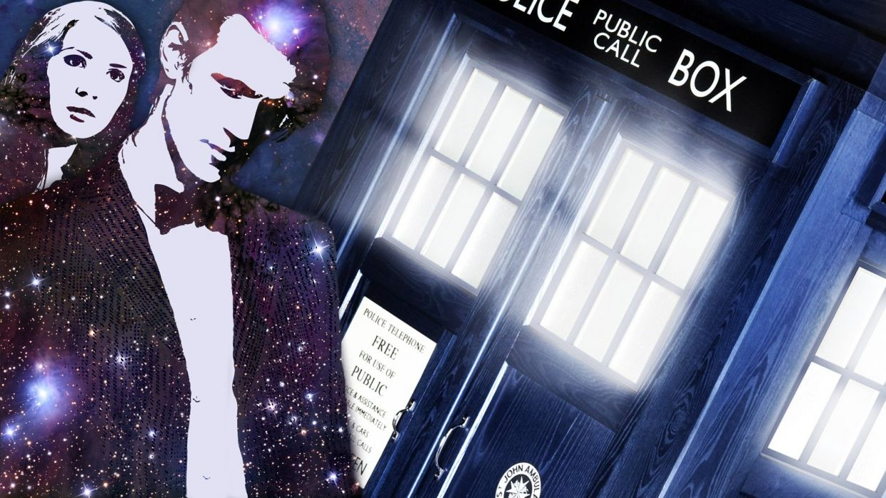 Tardis Matt Smith Amy Pond Eleventh Doctor Doctor Who Wallpaper