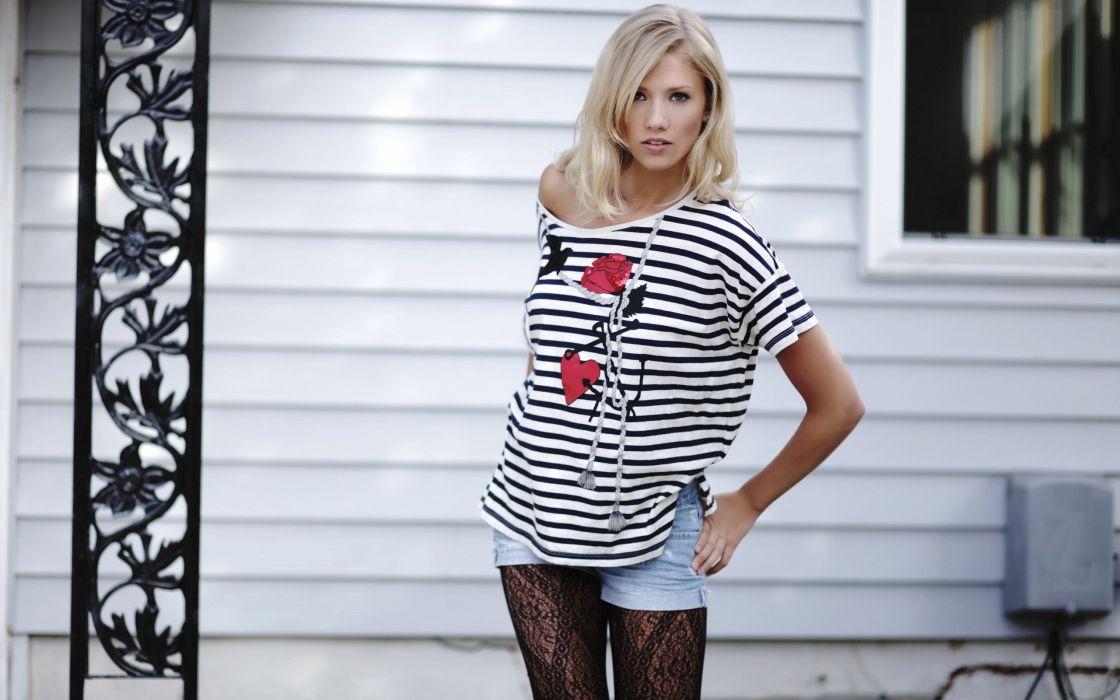 blondes women models Berit Birkeland wallpaper