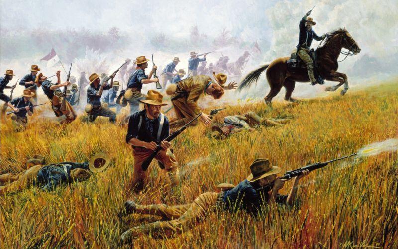 guns horses battles wallpaper