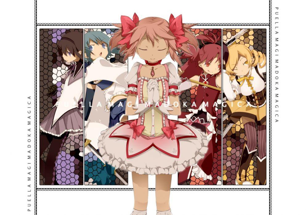 Mahou Shoujo Madoka Magica Miki Sayaka Sakura Kyouko Tomoe Mami Kaname Madoka anime Akemi Homura anime girls wallpaper