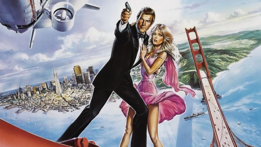 movies James Bond Golden Gate Bridge Roger Moore wallpaper