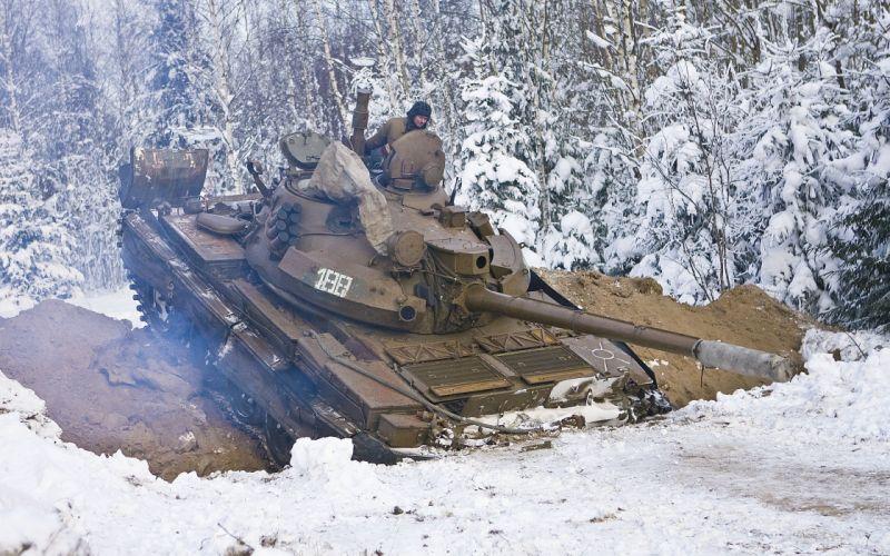 snow tanks t-62 wallpaper