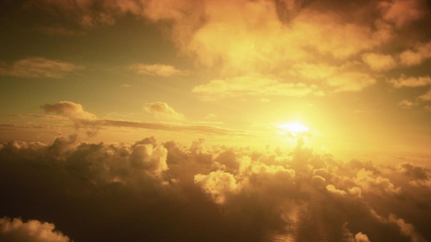 clouds Sun sunlight skyscapes wallpaper