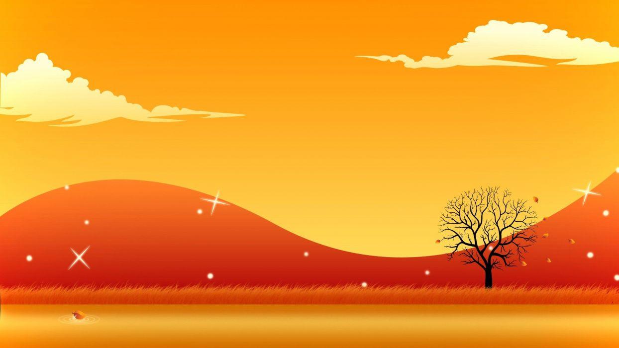 abstract landscapes vector art wallpaper
