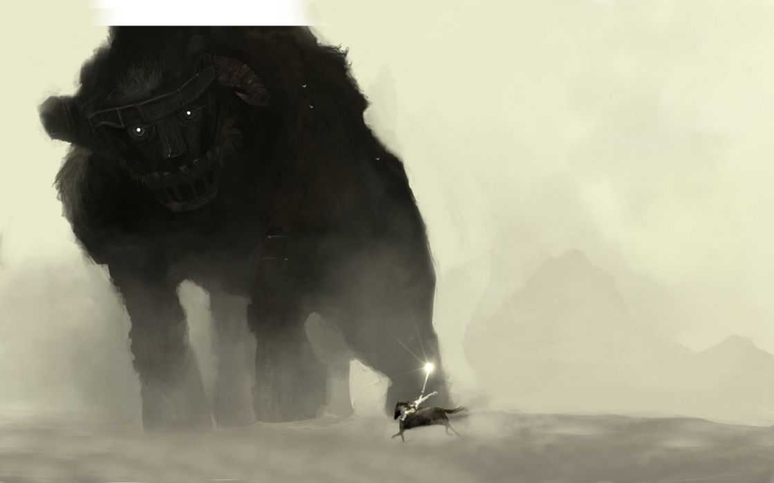 paintings fantasy art Shadow of the Colossus artwork wallpaper