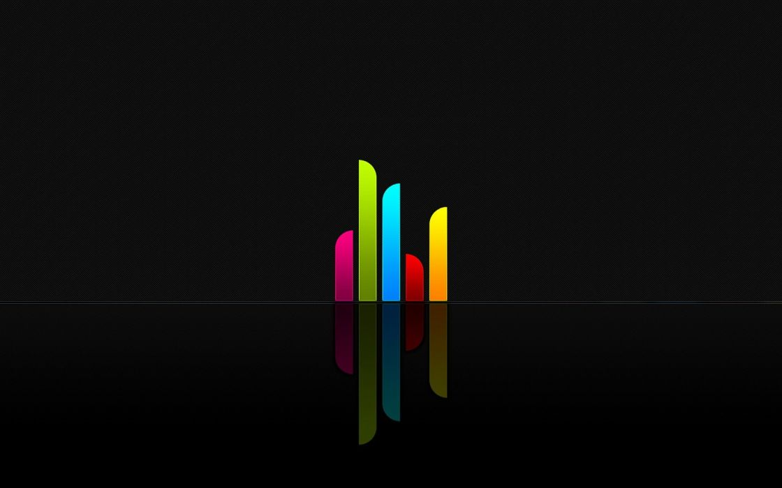 abstract minimalistic multicolor tower textures rainbows wallpaper