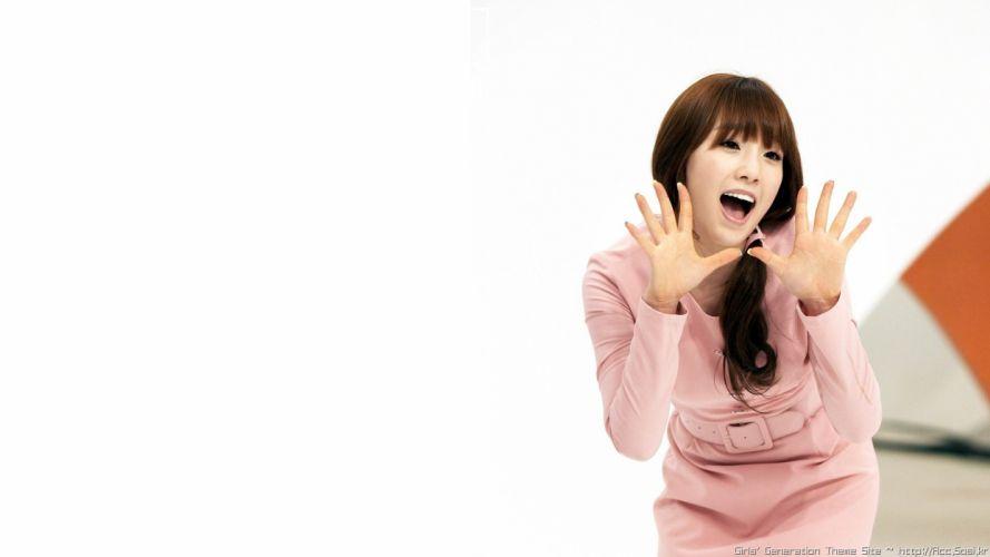 women Girls Generation SNSD Kim Taeyeon bangs wallpaper