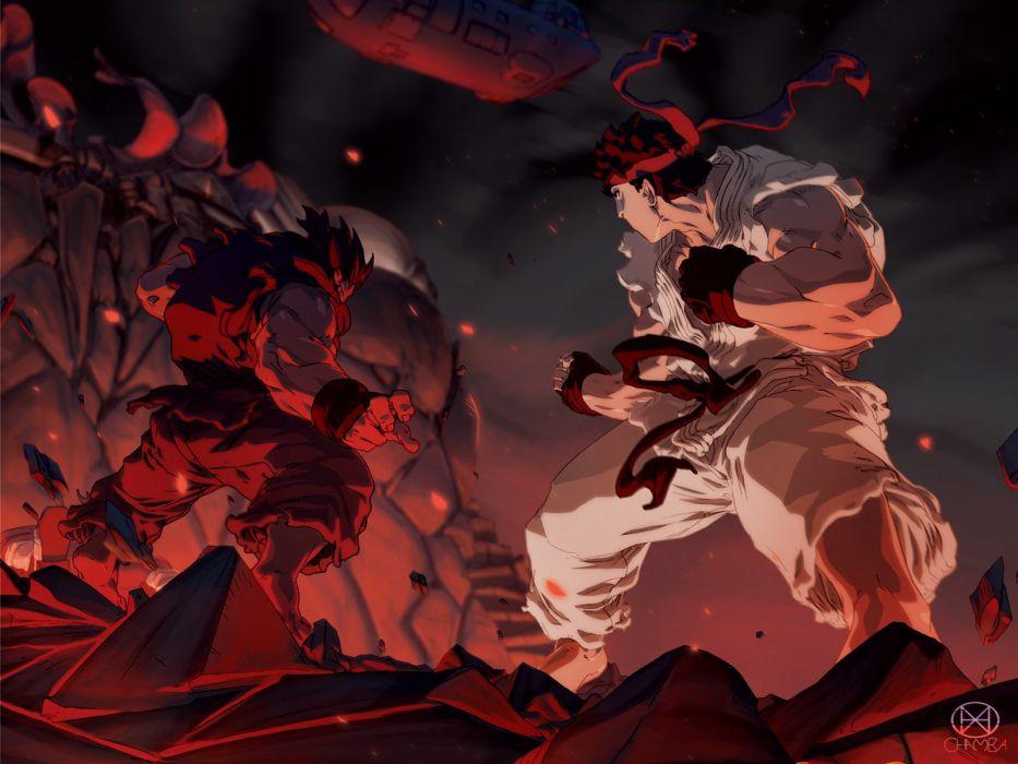 Street Fighter Ryu Akuma wallpaper