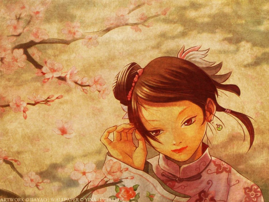 Chinese clothes wallpaper