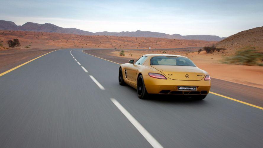 sports roads Mercedes-Benz SLS AMG wallpaper