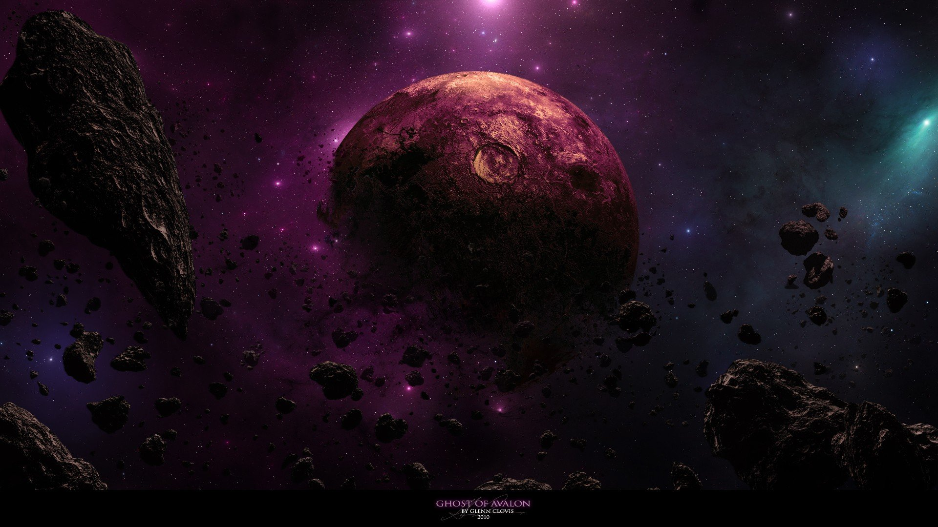 Outer space galaxies planets rocks nebulae DeviantART dust ...