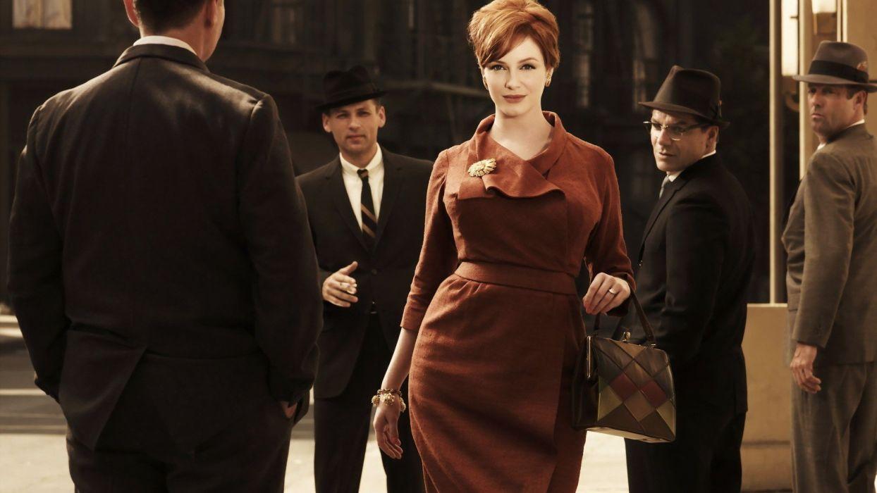 women eyes vintage redheads Christina Hendricks wallpaper