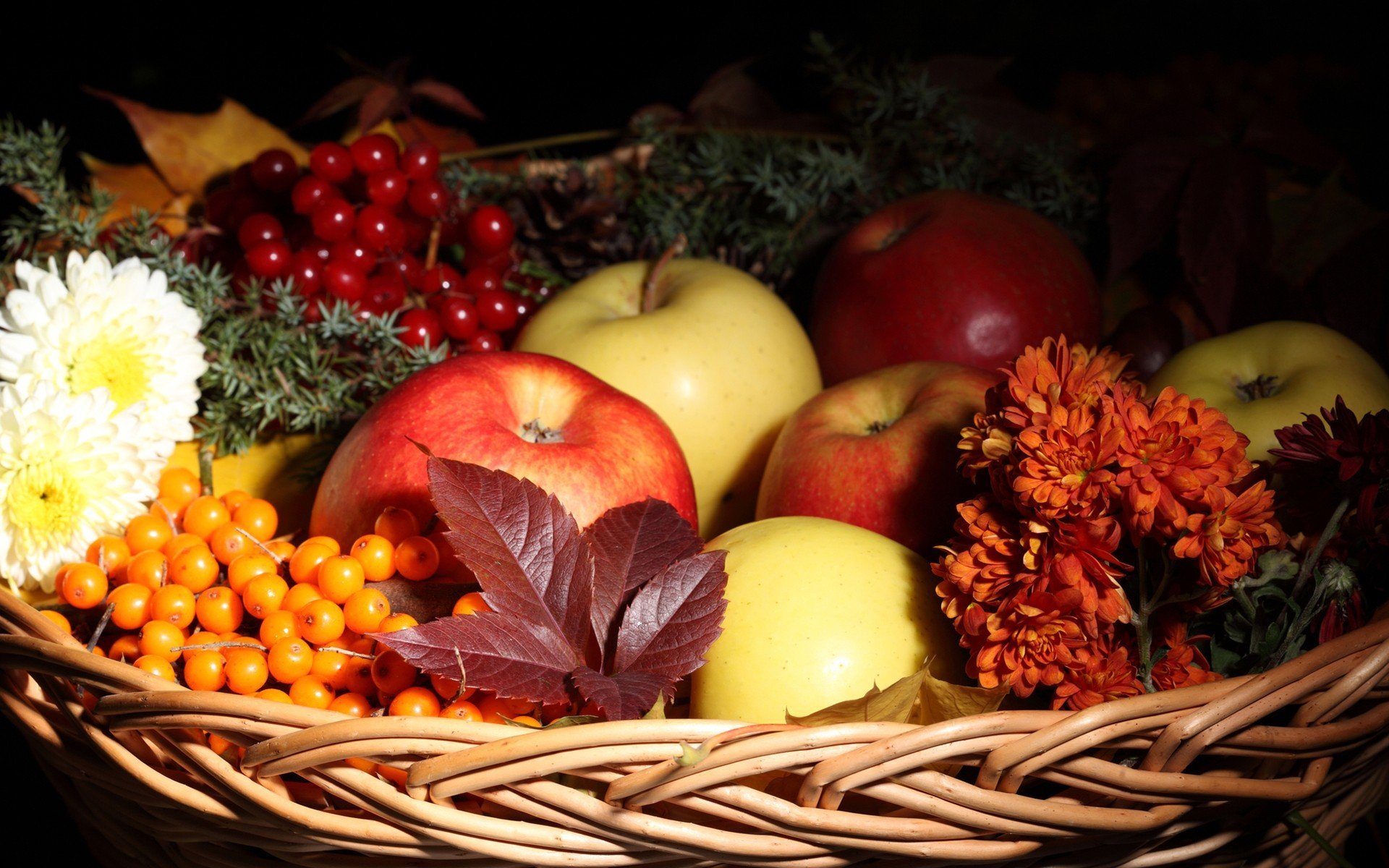 Flowers and fruits wallpapers - Flowers Fruits Food Baskets Apples Wallpaper 1920x1200 339808 Wallpaperup