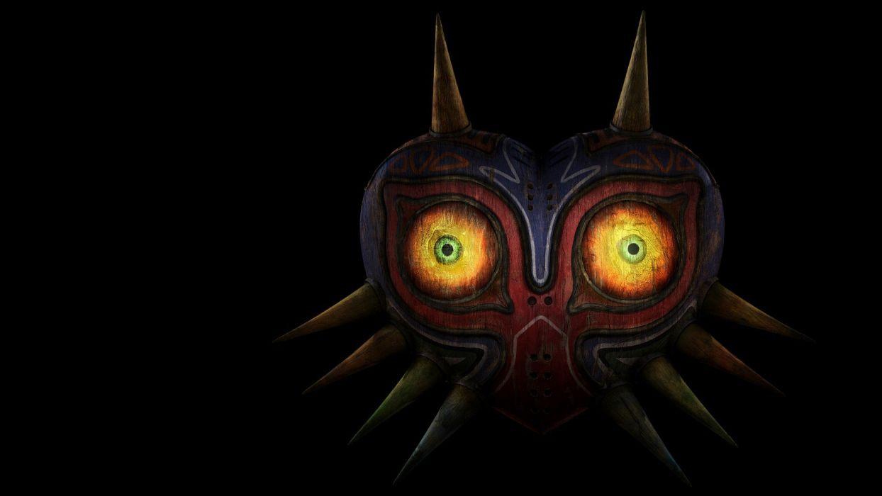 The Legend of Zelda masks black background The Legend of Zelda: Majoras Mask renders wallpaper