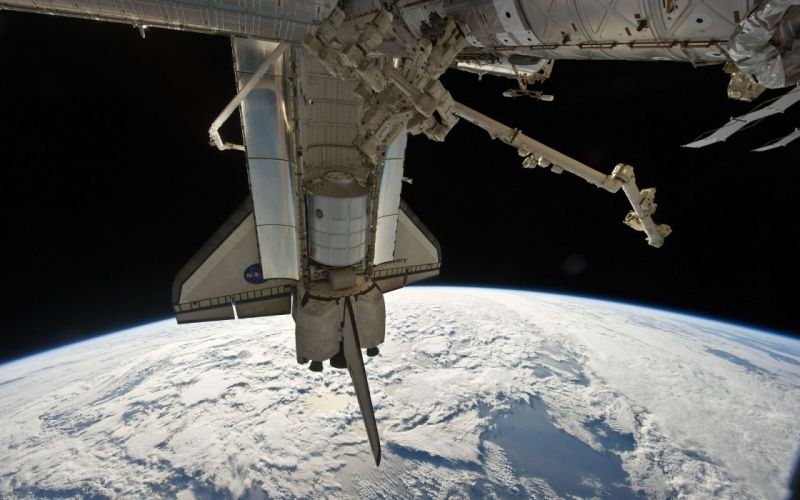 outer space NASA discovery International Space Station space station Space Shuttle Discovery wallpaper