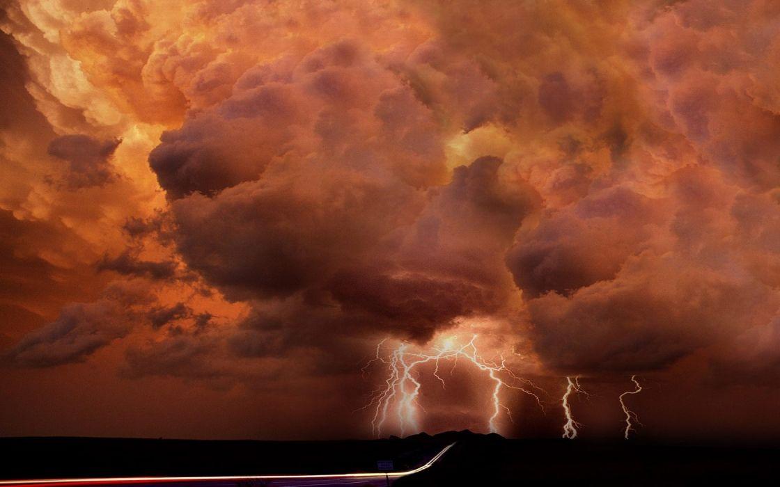 storm lightning bolts wallpaper
